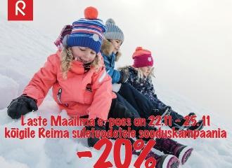 E-POES REIMA SULEJOPED/-MANTLID ja -KOMBED -20%